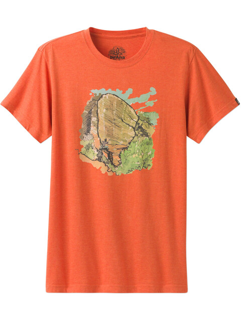 Prana Redlands Slim SS Shirt Men Orange Crush
